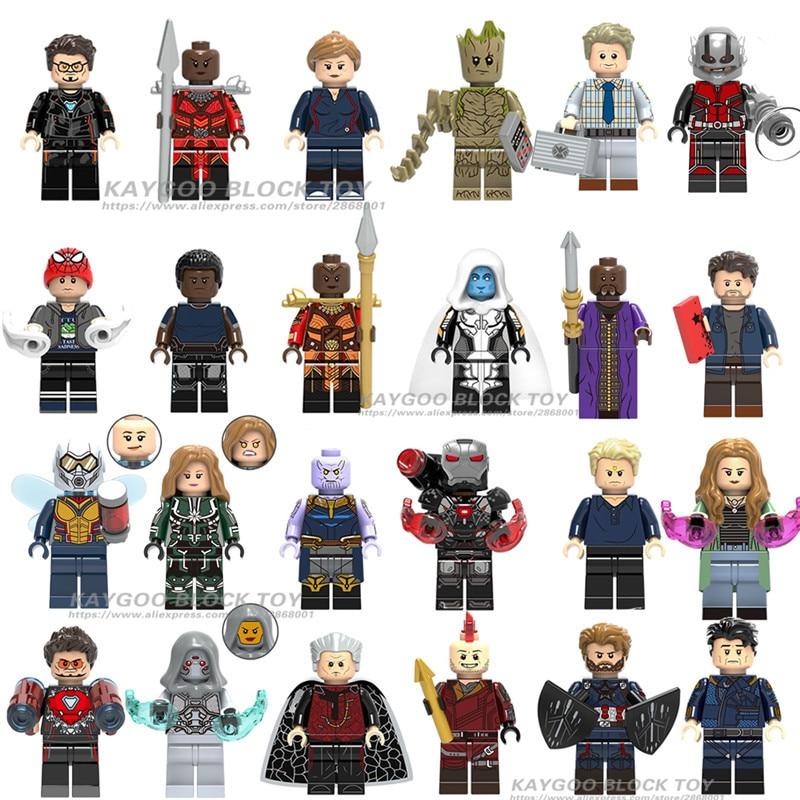 Toy Building-Block Falcon Gamora Thanos Thor Hulk Avengers Iron Man Black Legoinlys Infinity-War