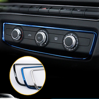 Car Styling For Audi A3 8V Stainless Steel Console A/C Trim Decoration Covers Sticker for Audi 2014 2017 Interior Accessories