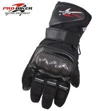 Gants de Moto en cuir étanche pour motard Pro, gants pour Motocross, chauds et complets, pour hiver