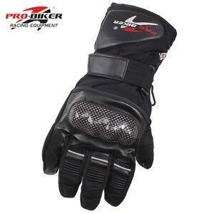 Image 1 - Pro Biker Guantes Motorcycle Gloves Waterproof Leather Gloves Motorcycle Winter Warm Full Finger Motocross Motorbike Moto Glove