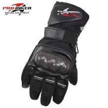 Мотоциклетные Перчатки Pro Biker Guantes, Водонепроницаемые кожаные, с закрытыми пальцами, для езды на мотоцикле, зимние теплые