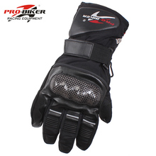 プロバイカー guantes オートバイ手袋防水革手袋オートバイ冬暖かいフルフィンガーモトクロスバイクモトグローブ