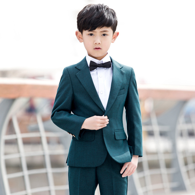 Suit boy  performance suit jacket + vest + trousers three-piece (not including shirts and bow tie).