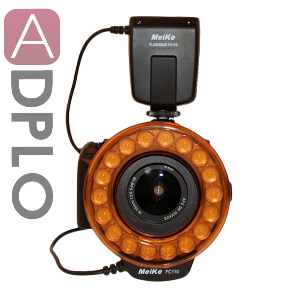 МК FC-110 LED Марко Кольцевая Вспышка для Canon EOS Nikon Sony камера olympus A350 A380 600D 1100D 550D 60D 7D 50D 40D 5D II