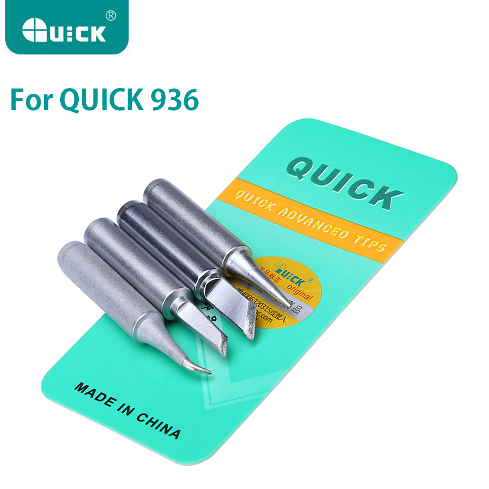 Original QUICK Soldering Tips Lead-free 900M Serise Iron Tip Welding Sting For 936 936A Soldering Rework Station Tools Kit