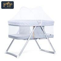 Портативная детская кроватка для путешествий, складная кроватка для новорожденных, дышащие детские гнезда для новорожденных