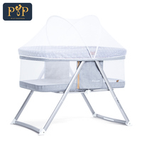 Портативный детская кровать младенческой Путешествия складной детской кроватки Дышащие Детские Гнездо детские кроватки для новорожденны