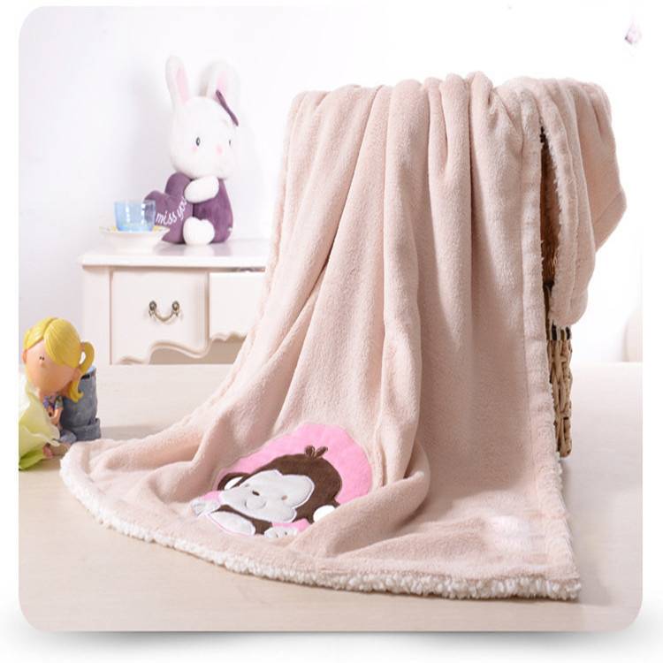 Children Double Thick Blanket Coral Fleece Infant Baby Blanket Cartoon Carter's Baby Blanket Swaddle Newborn Bedding Set Toddler