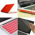 4на1 красный матовый прорезиненные жесткий чехол ( 11 цветов ) + крышка клавиатуры + разъем для Apple Macbook Pro 13 '' A1278 бесплатная доставка
