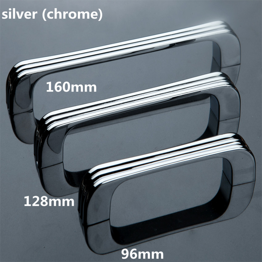 96mm 128mm 160mm silver chrome wardrobe kitchen cabinet door handles stain nickel dresser drawer pulls knob modern simple handle simple modern door handle drawer cabinet pull wardrobe knobs brush finish gold and silver handles single hole 96 128mm