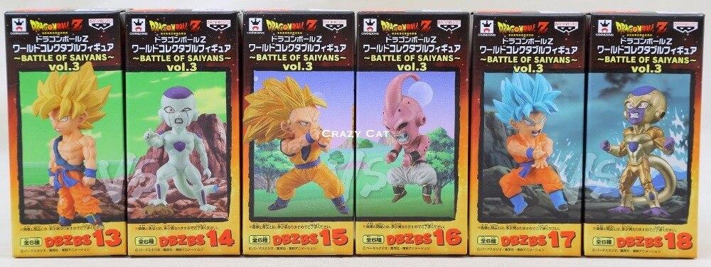 Обувь для косплея; аниме Оригинал Banpresto мир Коллекционная фигурка/Фос битва Саян Vol.3 Dragon Ball Z игрушка полный набор из 6 шт. - 2