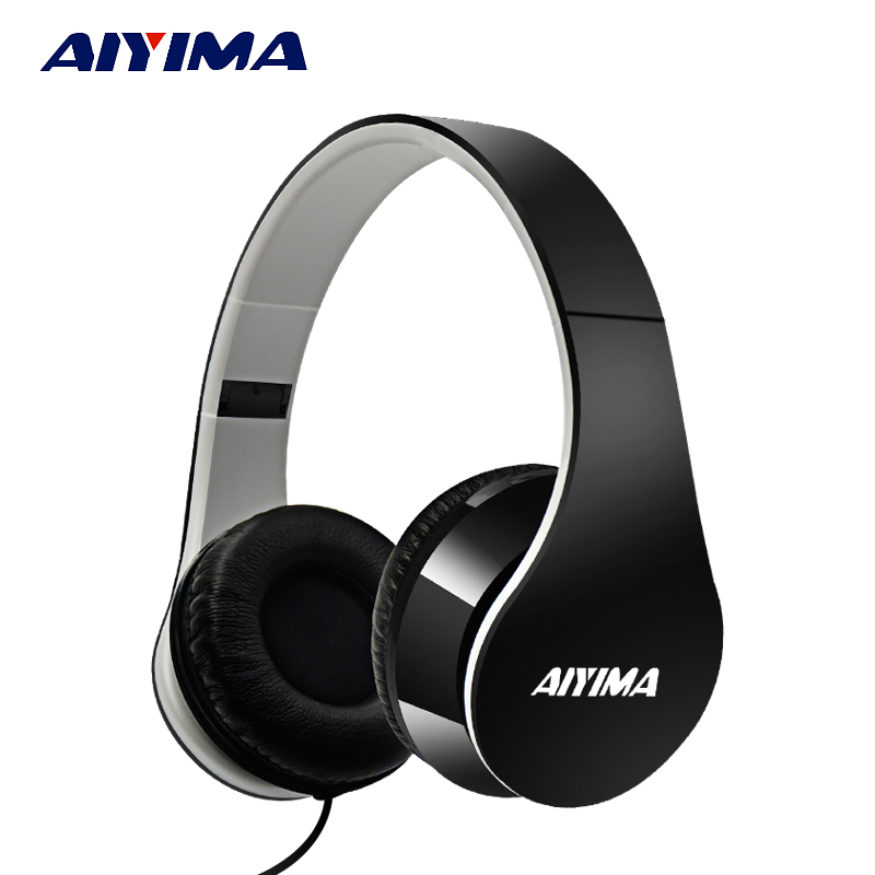 AIYIMA Headphones Gaming Headset 3.5mm Foldable Sport Earphone Audifonos HIFI Stereo Sound Music Portable Earphone aiyima headphones gaming headset 3 5mm foldable sport earphone audifonos hifi stereo sound music portable earphone