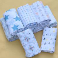 PINK SWAN Baby Summer Muslin Cotton Single Layer Baby Towel Geometry Pattern Newborn Blanket Baby Swaddle