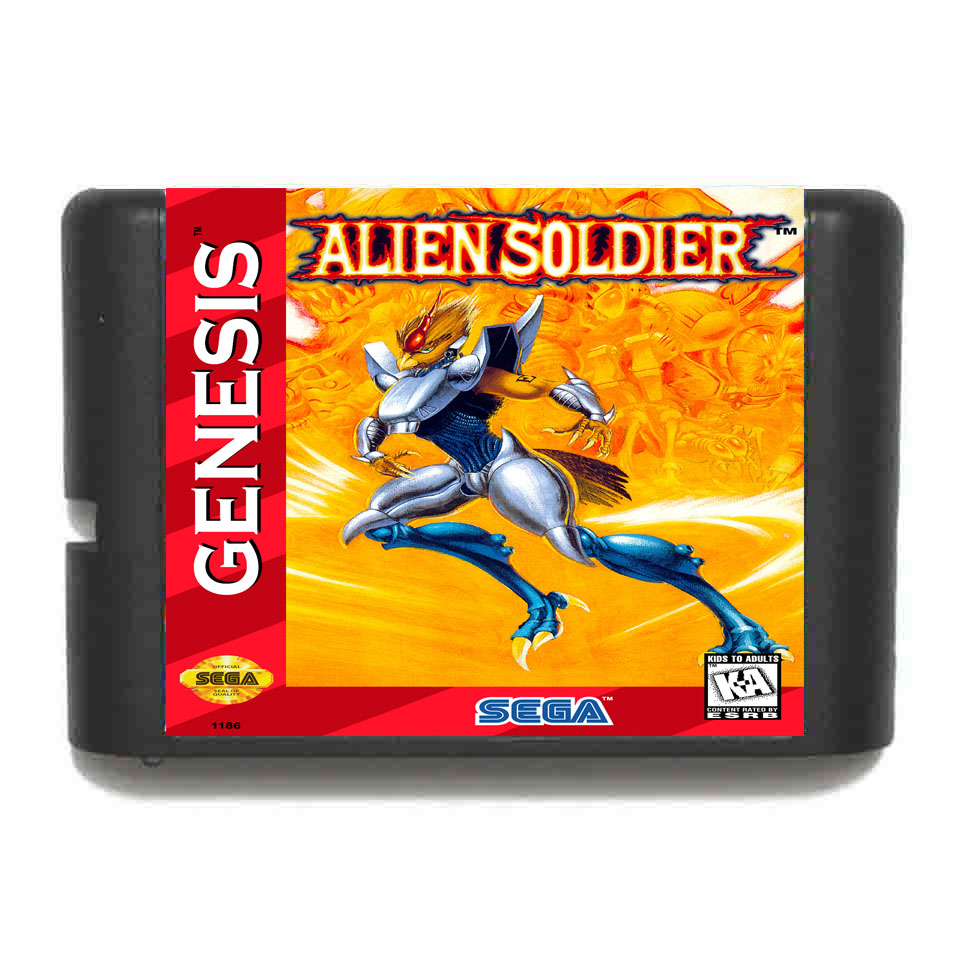 Alien Soldier 16 bit Game Card For Sega MegaDrive & Genesis System mickey mouse castle of illusion