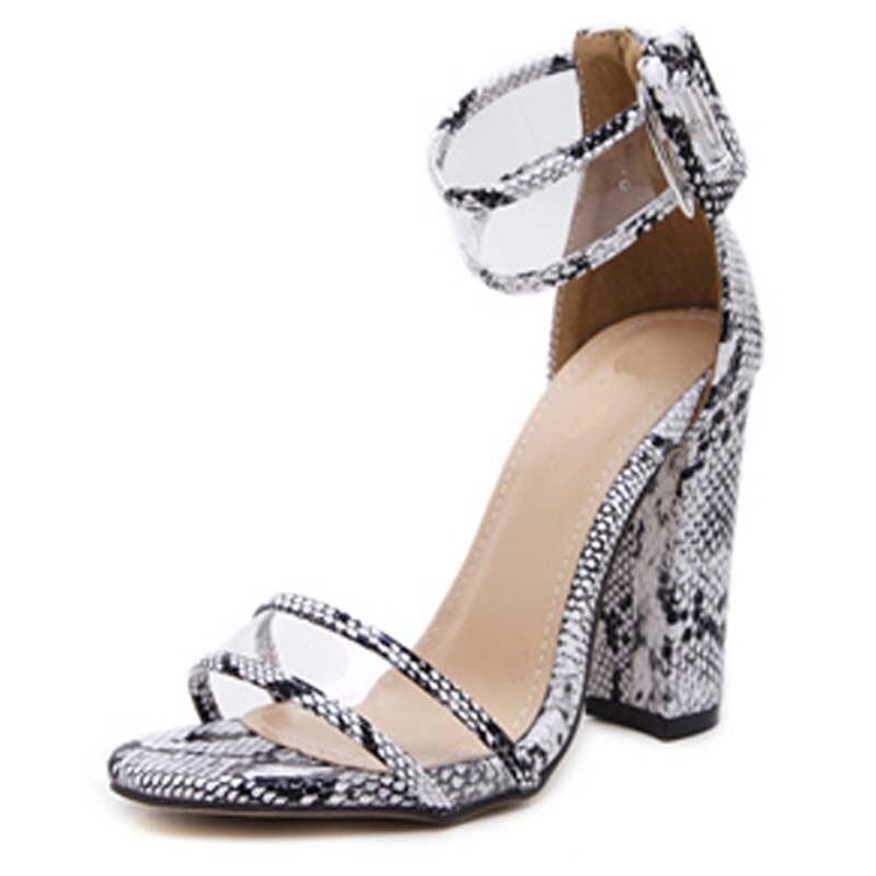 Y0100738q Chaussures 10 noir Femme Talons À Classique De Plate snake Serpent Haute Pvc Boucle Femmes Cm bleu Cheville forme Apricot Sangle Effacer Mode Sandales Enveloppe UUHqrRxBw