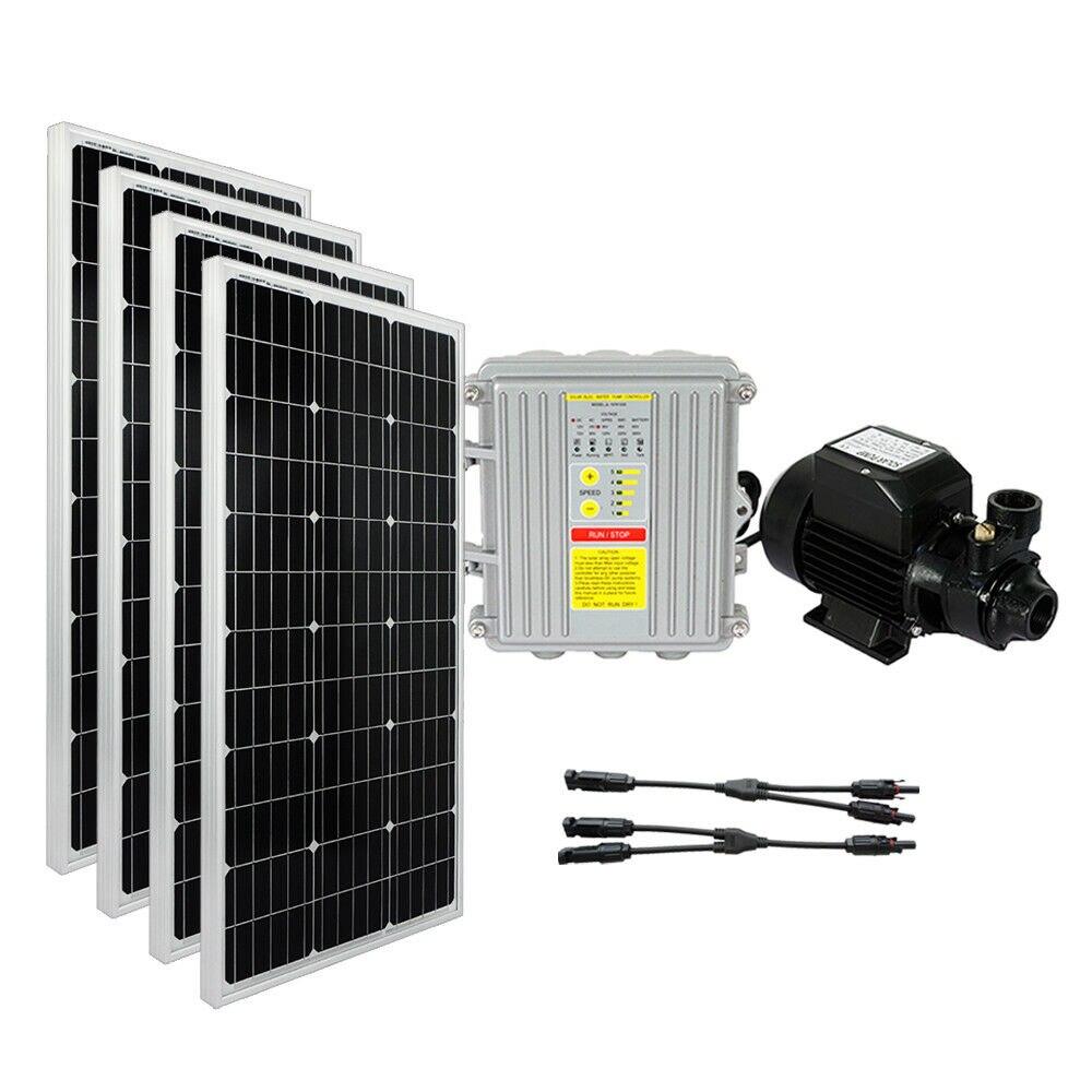 2019 Nieuwste Ontwerp Solar Ondiepe Goed Waterpomp Systeem: 24 V Waterpomp + 4*100 W Mono Zonnepaneel Het Voeden Van Bloed En Het Aanpassen Van De Geest