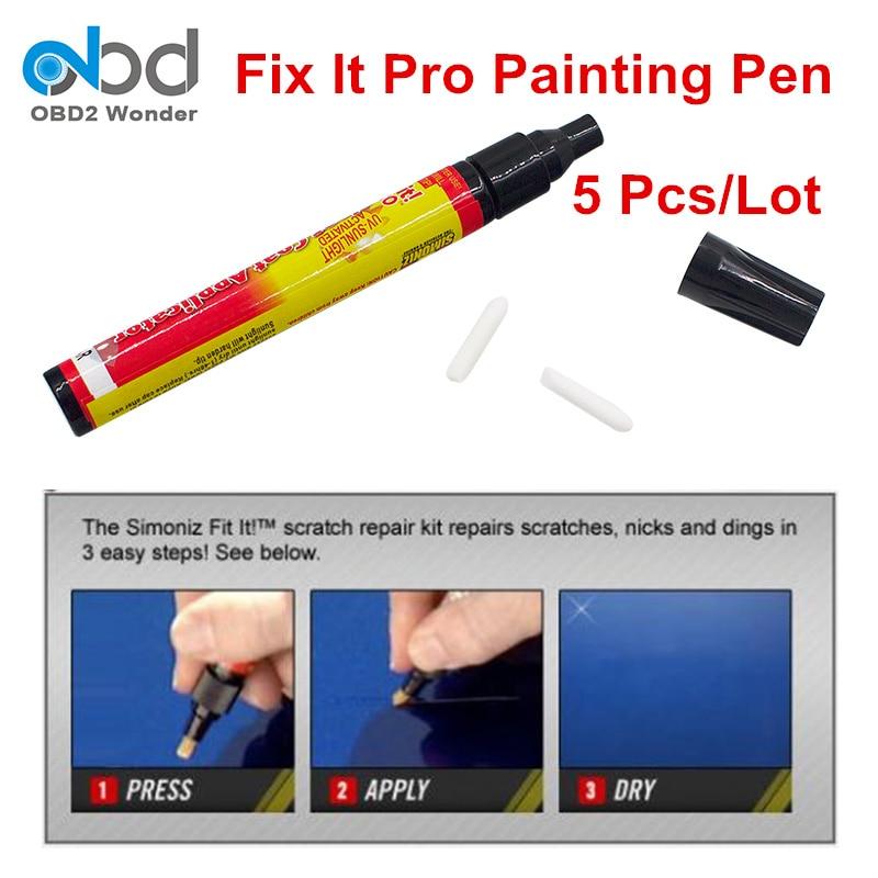 new 5 pcs lot auto paint pen fix it pro clear coat scratch repair filler sealer car painting pen. Black Bedroom Furniture Sets. Home Design Ideas