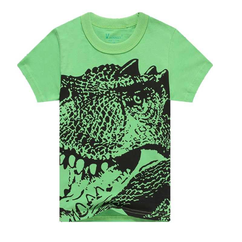 ילדי עכבר חולצה ילד של נוקמי סוף המשחק T חולצה דינוזאור חולצה קצר שרוולים בגדי בנות חולצות עבור 2-12Y
