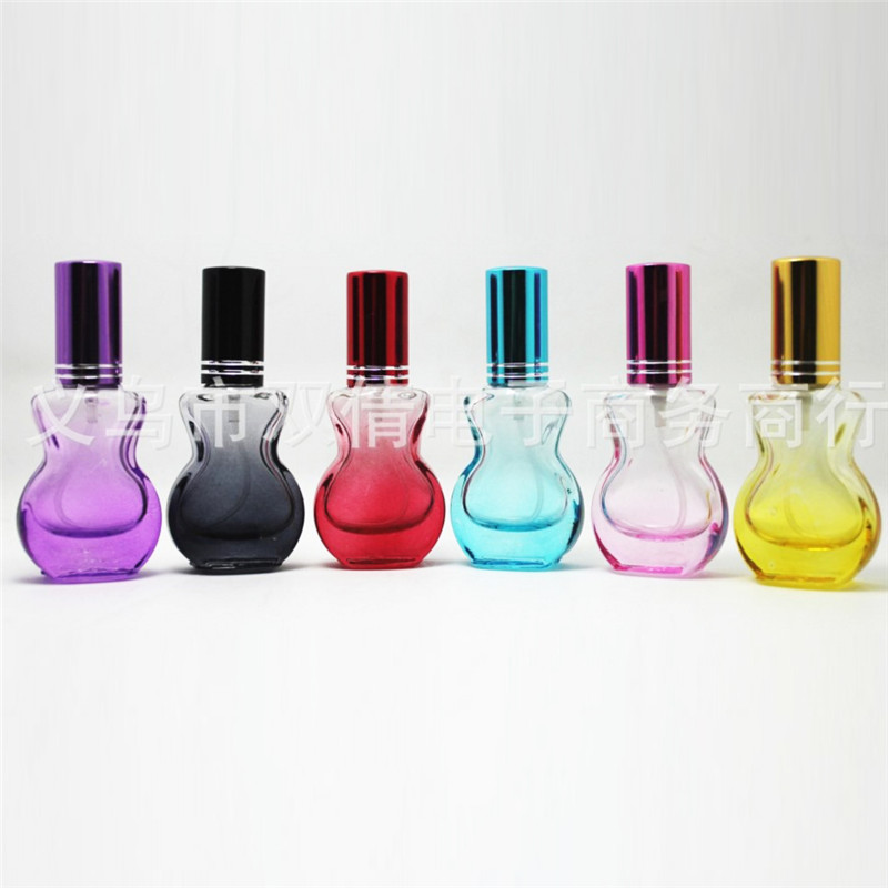 100Pcs a lot 10ML Transparent Glass Refillable Bottles Perfume Spray Bottle Atomizer Perfume Bottle Portable Bottle with 6Colour a6 loose leaf binder notebook leather business lockable writing pads office school supplies logo name customized diary gift