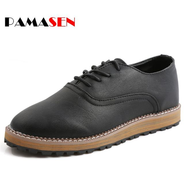Hot Sale New 2016 Spring Men Fashion Leather Shoes Men's Flats Shoes Low Casual Shoes For Men Oxford Shoe Free Shipping