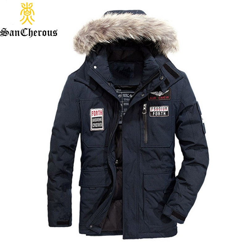 2019 Hohe Qualität Mann Parkas Warme Winter Outwear Mit Kapuze Hut Abnehmbare Größe M-4xl