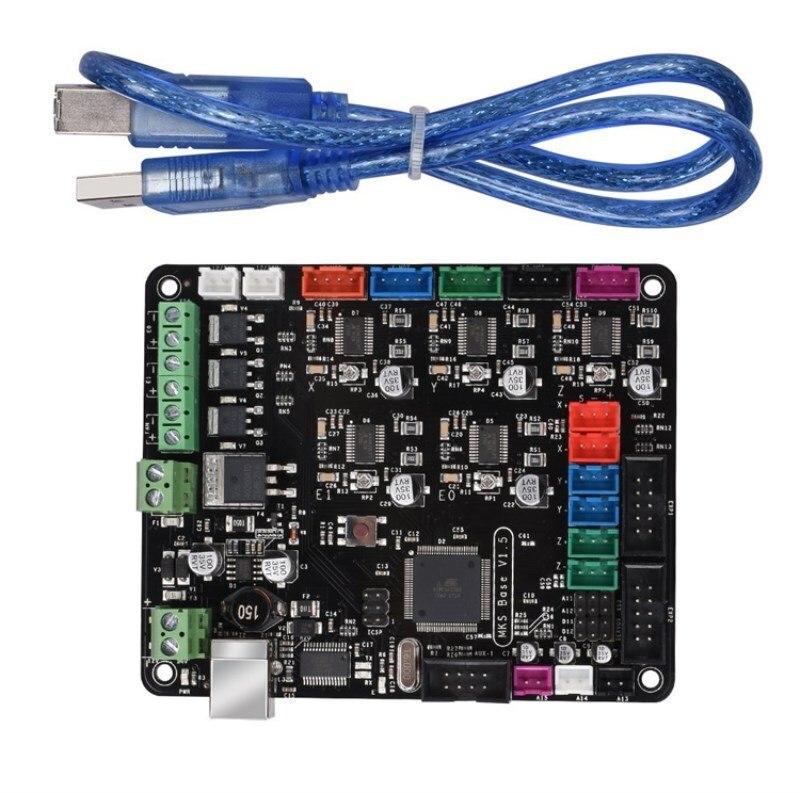 3D-принтеры Запчасти Prusa i4 плата МКС базы V1.5 с радиаторами и USB Совместимость Mega2560 и RAMPS1.4 контроллер combo