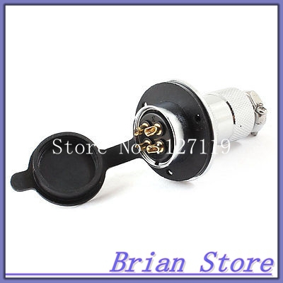 Electric Cable Aviation 4P 25mm Pannel Connector Plug Adapter AC 250V 7A electric cable aviation 4p 25mm pannel connector plug adapter ac 250v 7a