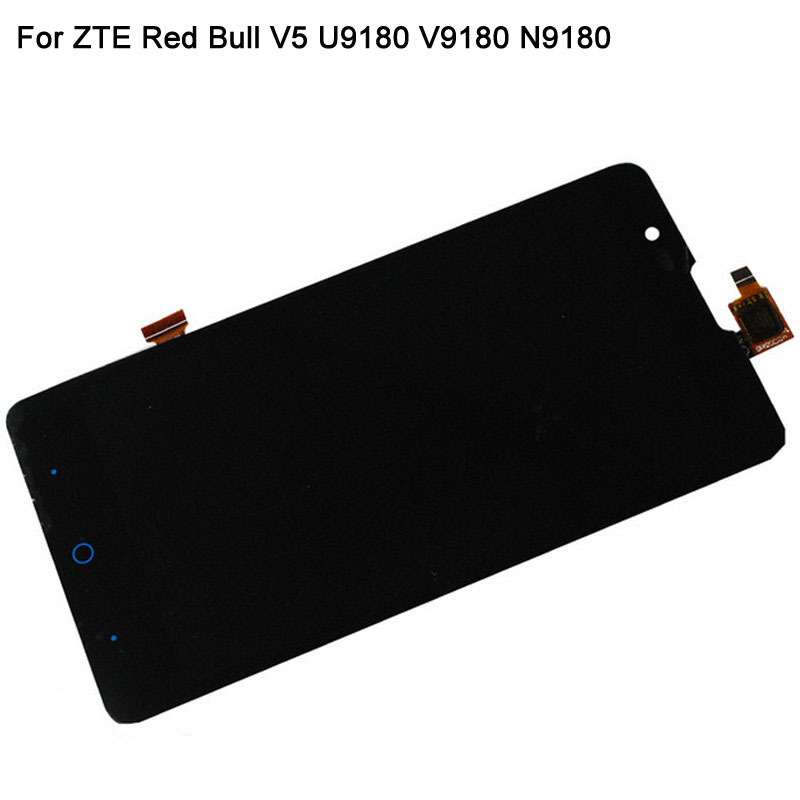 V5 LCD Display For ZTE Red Bull V5 U9180 V9180 N9180 LCD Screen With Touch Screen Digitizer Assembly Replacement Black Color