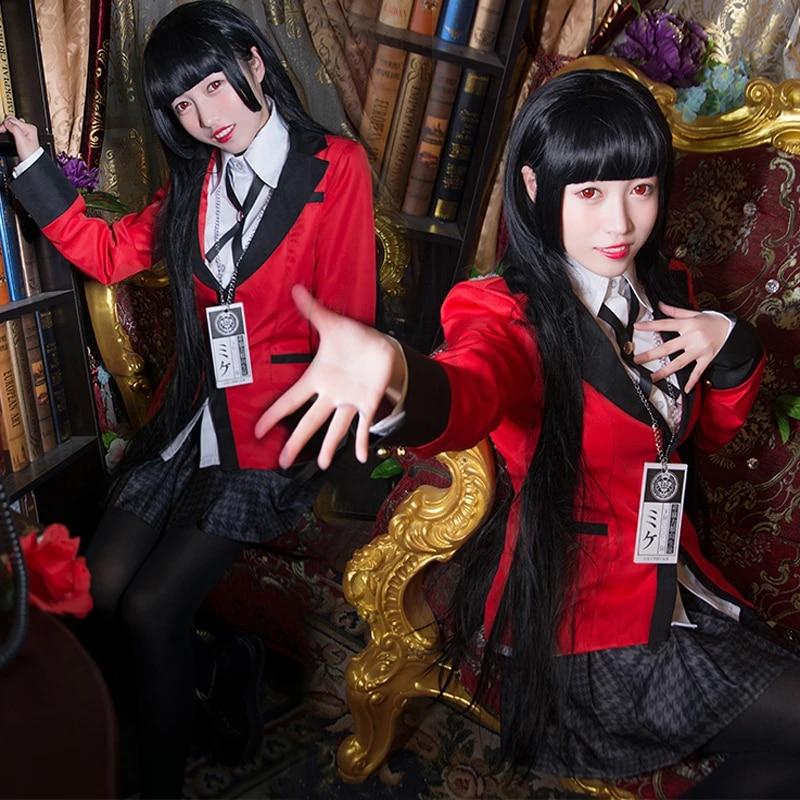 Hot Cool Cosplay Costumes Anime Kakegurui Yumeko Jabami Japanese School Girls