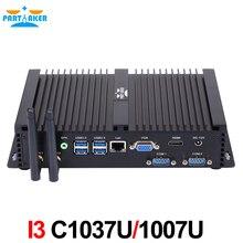 Мини настольный ПК безвентиляторный Мини-ПК Окна с Intel Core C1037U или C1007U 2 * COM Промышленные ПК Прочный ПК
