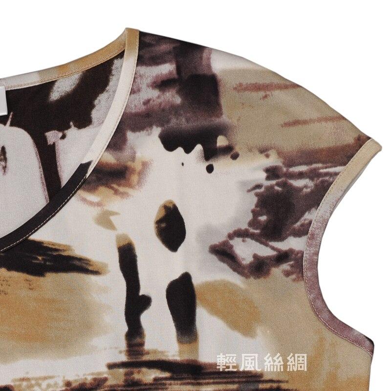 ฤดูร้อนใหม่ผู้หญิงเสื้อยืดผ้าไหม 100% ผ้าไหมถักกระเป๋าผ้าไหม-ใน เสื้อยืด จาก เสื้อผ้าสตรี บน   3