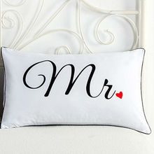 Mr and Mrs Pillowcases Decorative Pillow Cases Romantic Anniversary Wedding Valentines Day Gift