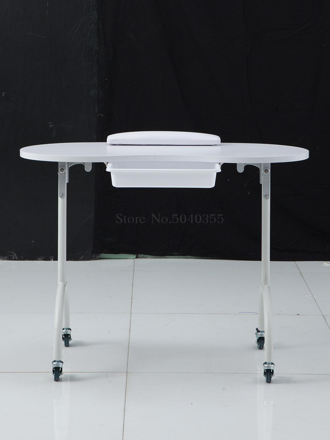 Гвоздь верстак одиночный Маникюрный Стол маникюрный магазин складной простой белый Маникюр верстак столик для ногтей