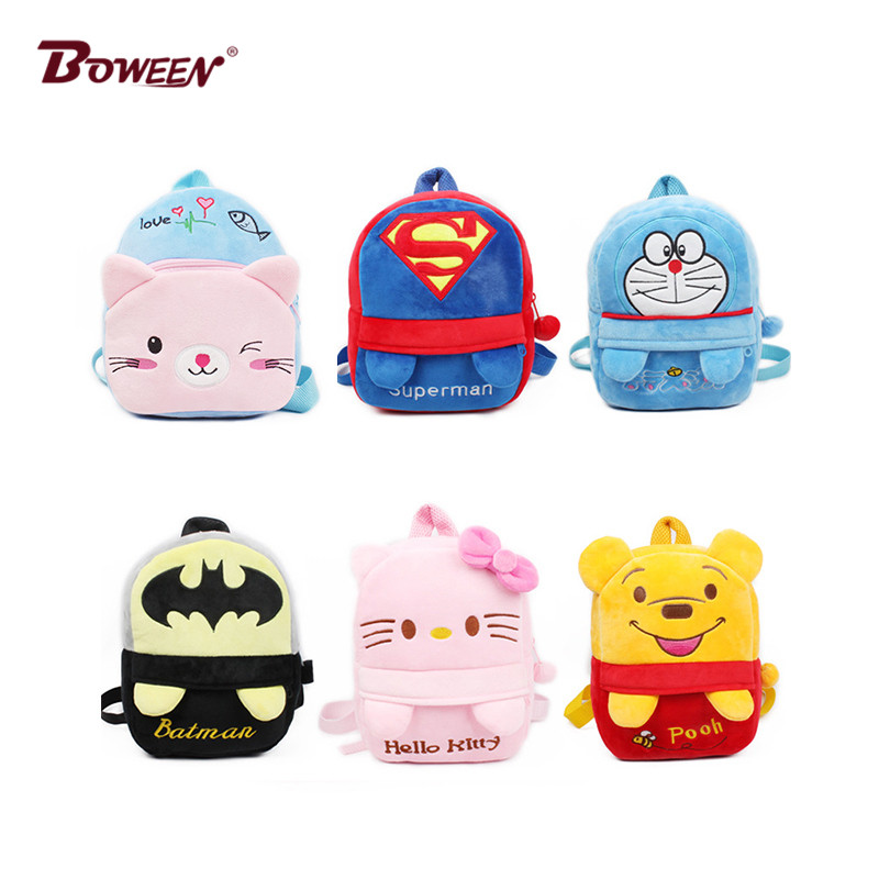 Cute Cartoon Plush Children Backpacks Girl Mini Kids  Boy School Bags Baby SchoolBag Kindergarten Infant Backpacks Gift For Kids