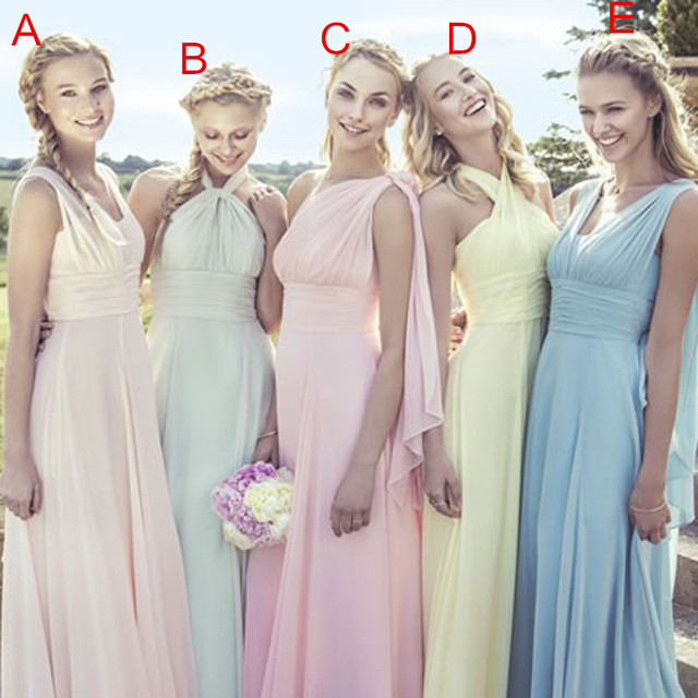 Sexy Chiffon Bridesmaid Dress Fashion Dresses