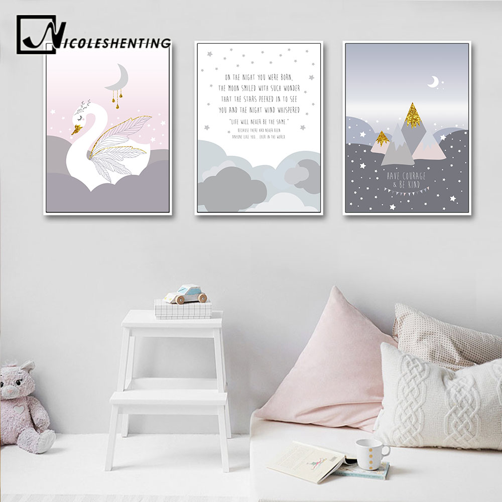 Us 2 91 48 Off Baby Nursery Wall Art Canvas Poster Cartoon Print Painting Nordic Kid Decoration Picture Children Bedroom Living Room Decor In
