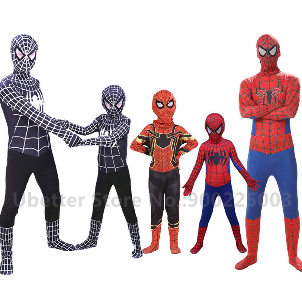 3D Printing Amazing Spiderman Costume Superman Suit Kids Spider-man Child And Adult Spider Man Halloween Cosplay Costumes C002