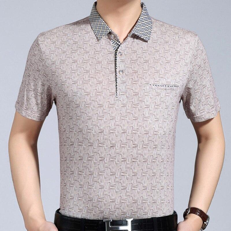 2019 hot mens clothing short sleeve   polo   shirt summer pol men plaid brands   polos   tee shirts dress streetwear male poloshirt 1258