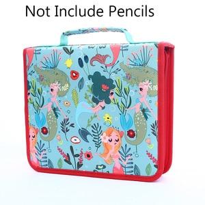 Image 3 - Профессиональный школьный чехол для карандашей с 120/168/216 отверстиями, чехол для карандашей, пенал, коробка для ручек для детей, красочная художественная сумка, большая сумка для хранения, пенал
