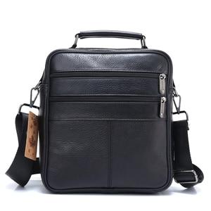 Image 3 - ZZNICK 2018 Genuine Cowhide Leather Shoulder Bag Small Messenger Bags Men Travel Crossbody Bag Handbags New Fashion Men Bag