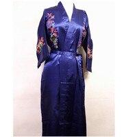 נשים סיניות אופנה של רקמת משי סאטן חלוק קימונו אמבט שמלת פרחי Sml XL XXL XXXL משלוח חינם MR-021