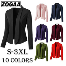 ZOGAA Women Coat Casual Jacket 2019 Fashion Work Office Lady Suit Slim Fit None Button Business Female Oversized
