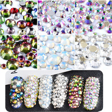 1 Pack Mix SS3-SS16 Crystal Clear AB Opal White Non Hotfix Flatback Nail  Rhinestones 8dc4a688923e