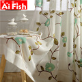 Tiulowe zasłony do okien do salonu rustykalny haftowany kwiat Voile zwiewne okienne zasłony do sypialni jadalnia AP106 40 w Zasłony od Dom i ogród na