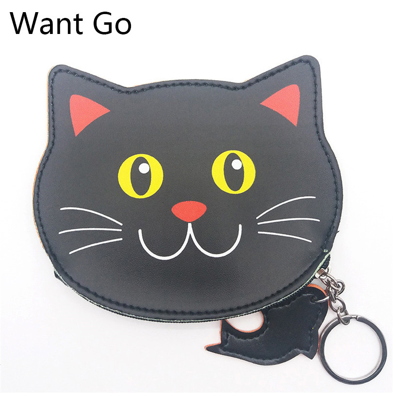Want Go Lovely Animal Printing Coin Purse For Women Fashion Lady Cat Design Samll Pocket Purse New Arrival Female Change Purse женские часы go girl only go 694923