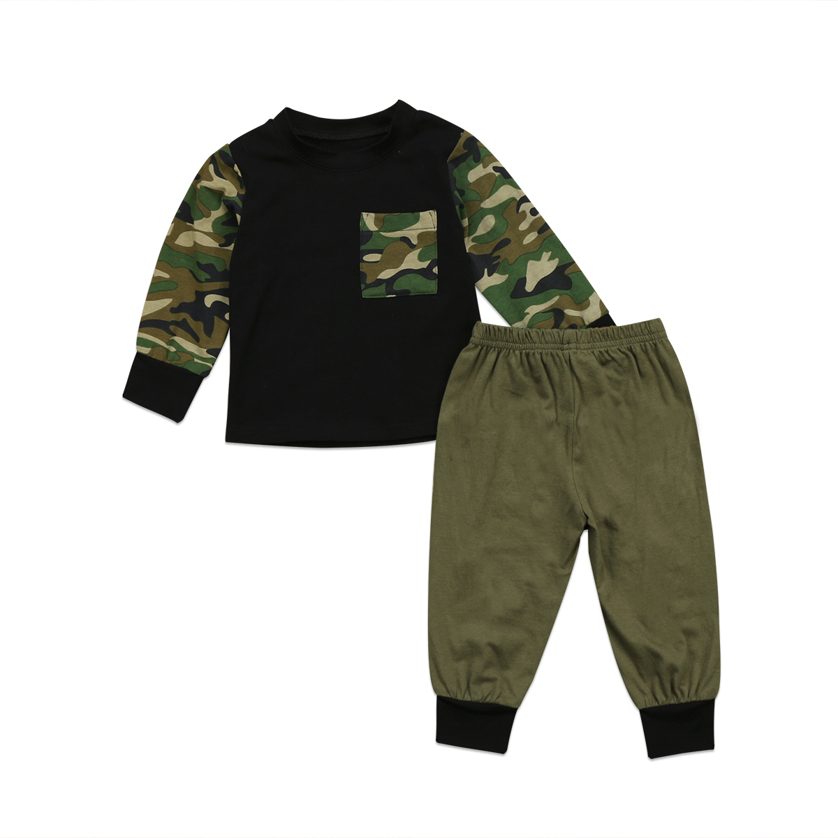 Newborn Infant Baby Boys Tops Long Pants Camouflage ...