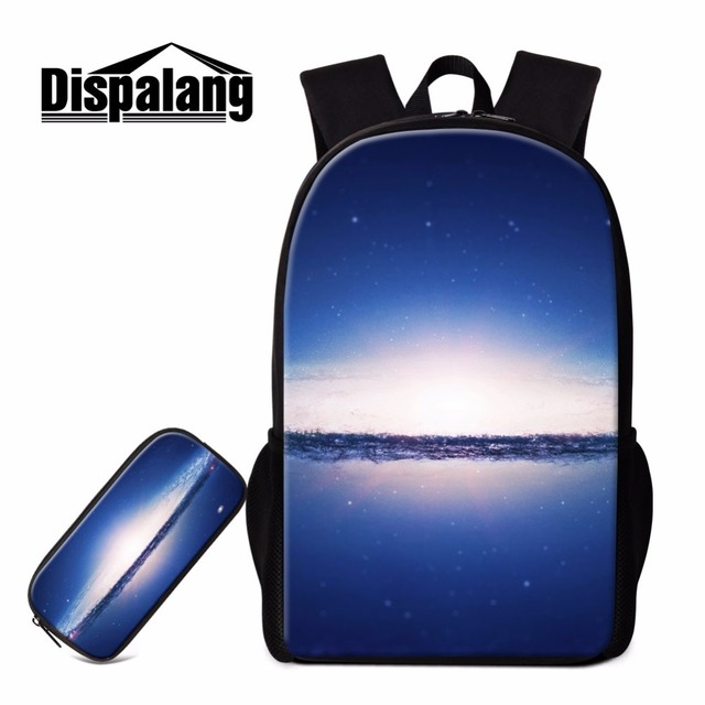 3c12857f5c36 Dispalang Universe Space Printing 2 Pieces School Bookbags With Pencil Bag  Stylish Boys Double Shoulder Bag