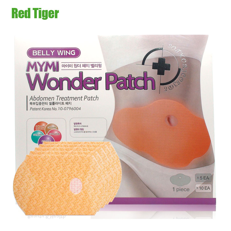 15Pcs MYMI Wonder Slimming Patch Belly Abdomen Weight Loss Fat burning Slim Patch Cream Navel Stick Body Massager C322