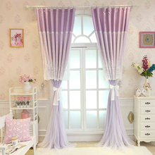 Custom Made Korean Princess Style Curtains Embroidery Lace Tulle Curtain for Living Room Beauty Girl s