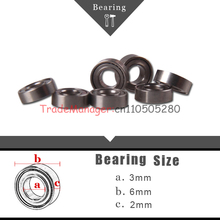 Free Shipping 10pcs Ball Bearing Bush Wireless toy car parts Brand new 3*6*2 imp